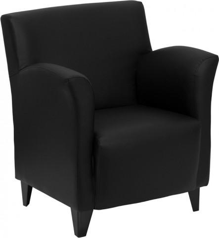 Hercules Roman Series Black Leather Reception Chair