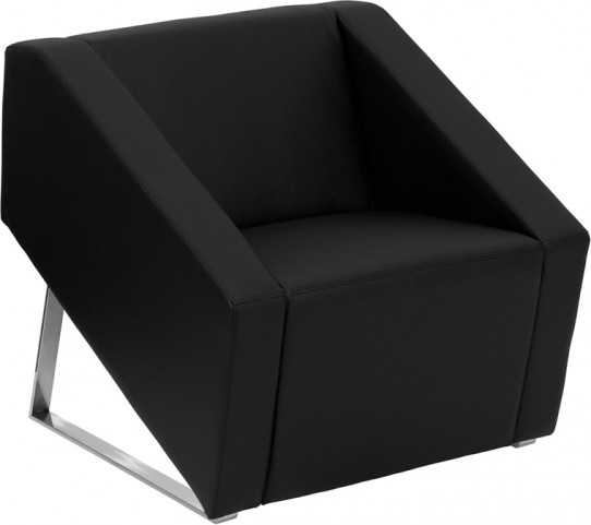 Hercules Smart Series Black Leather Reception Chair