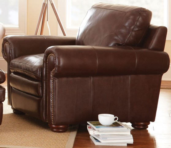 Yosemite Chestnut Leather Chair