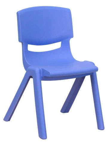 "22""H Blue Plastic Stackable School Chair"