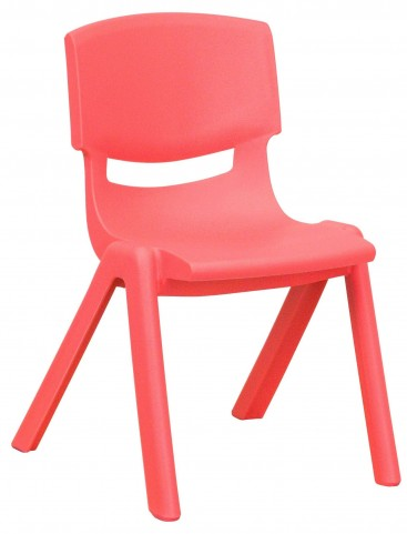 "22""H Red Plastic Stackable School Chair"