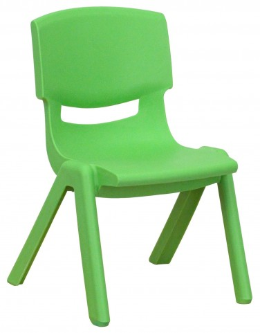 "20""H Green Plastic Stackable School Chair"