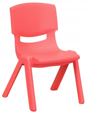 "20""H Red Plastic Stackable School Chair"