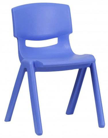 "23.25""H Blue Plastic Stackable School Chair"