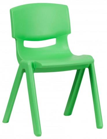 "23.25""H Green Plastic Stackable School Chair"