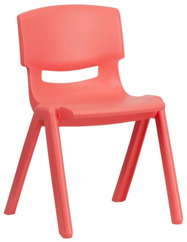 "23.25""H Red Plastic Stackable School Chair"