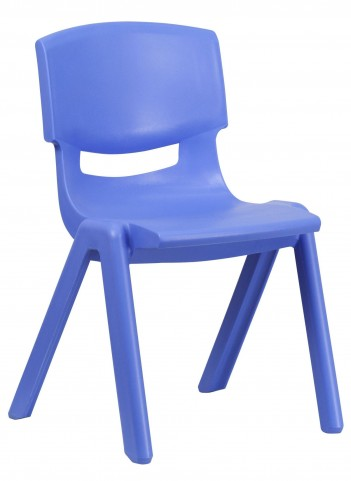 "26.75""H Blue Plastic Stackable School Chair"