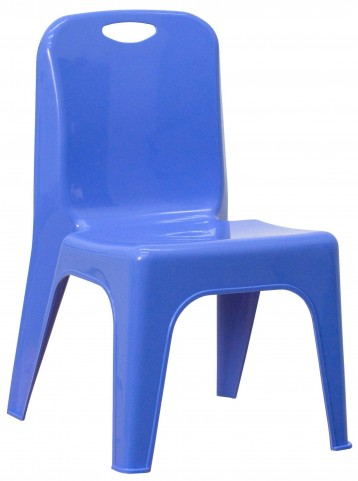 Blue Plastic Stackable School Chair with Carrying Handle