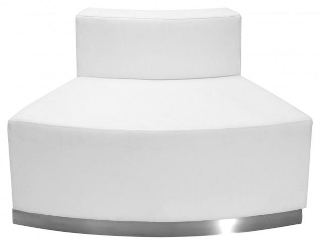 Hercules Alon Series White Leather Convex Chair
