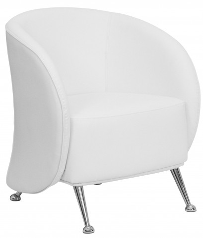 Hercules Jet Series White Leather Reception Chair