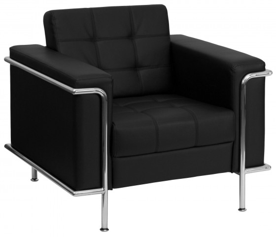 Hercules Lesley Series Black Leather Chair
