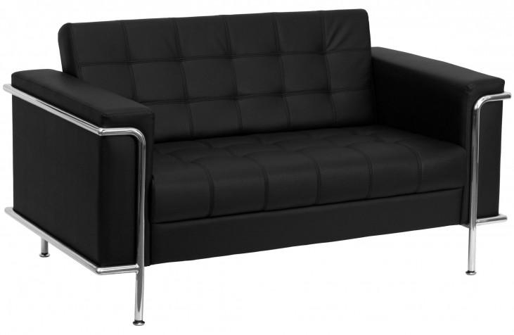 Hercules Lesley Series Black Leather Loveseat