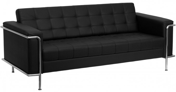 Hercules Lesley Series Black Leather Sofa