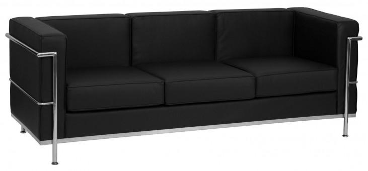 Hercules Regal Series Black Leather Sofa