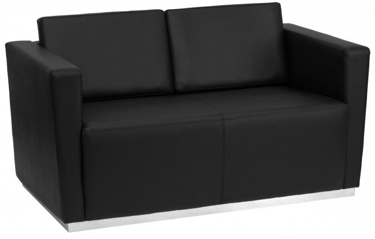Hercules Trinity Series Black Leather Loveseat