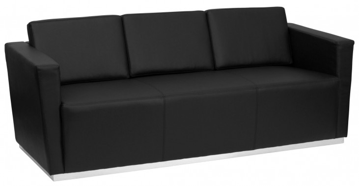 Hercules Trinity Series Black Leather Sofa