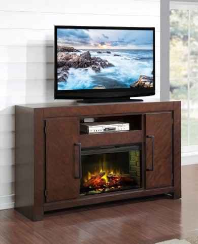 City Lights Dark Chocolate Fireplace Console