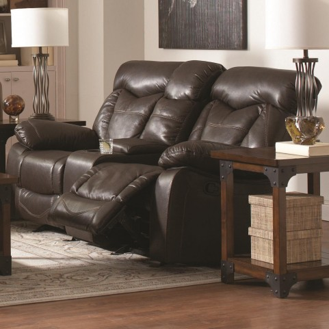 Zimmerman Glider Power Reclining Loveseat with Console