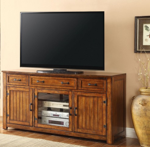 "Industrial Chestnut 64"" TV Console"