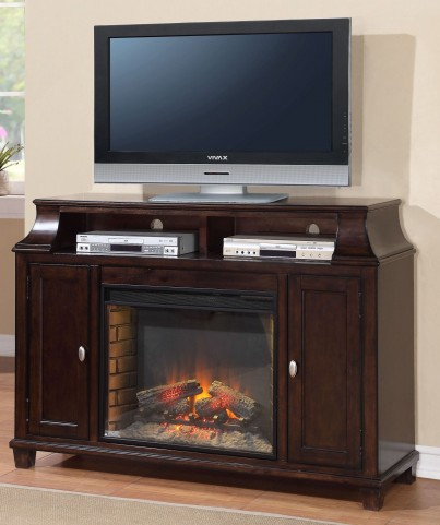 Manchester Rustic Black Fireplace Media Center