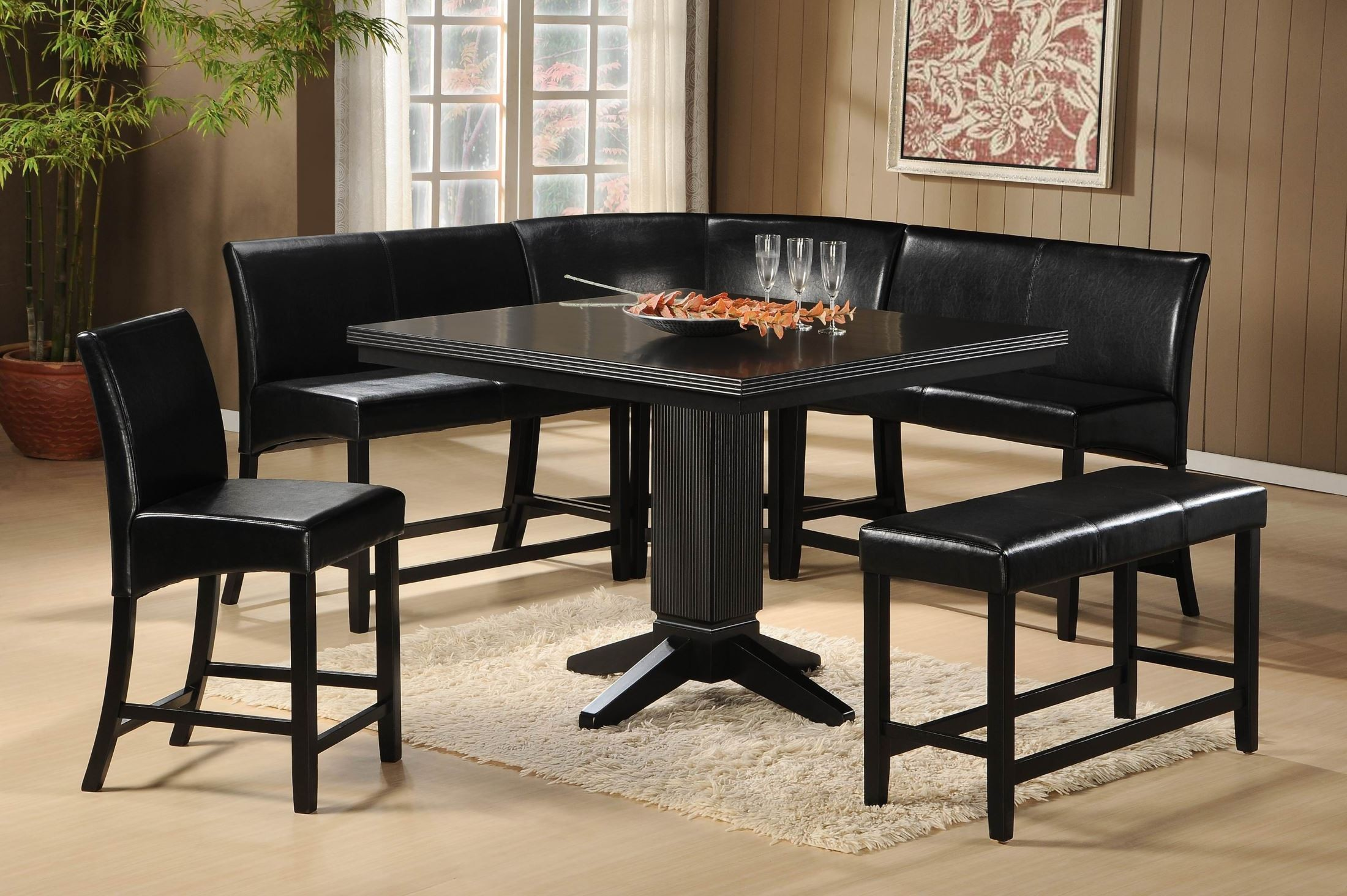 Papario nook Counter Height Dining Table from Homelegance  :  5351 36 and 5351 24ts and 5351 24cr and 5351 24 and 5351 24bh view 2 from colemanfurniture.com size 2200 x 1464 jpeg 567kB
