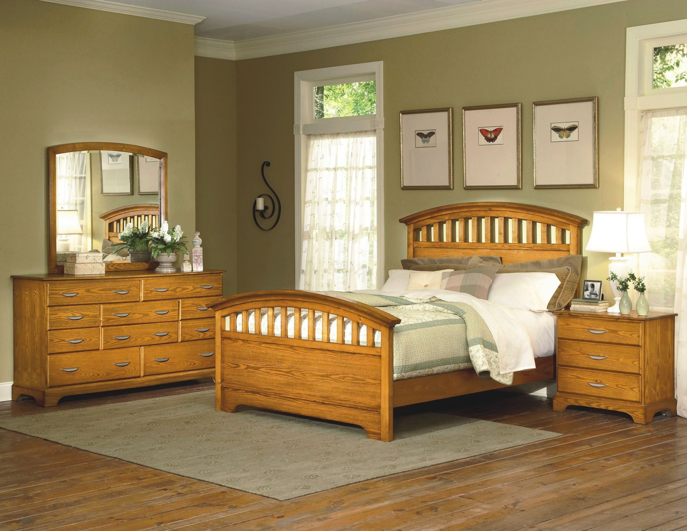 westwind honey panel bedroom set from new classics 1517 300