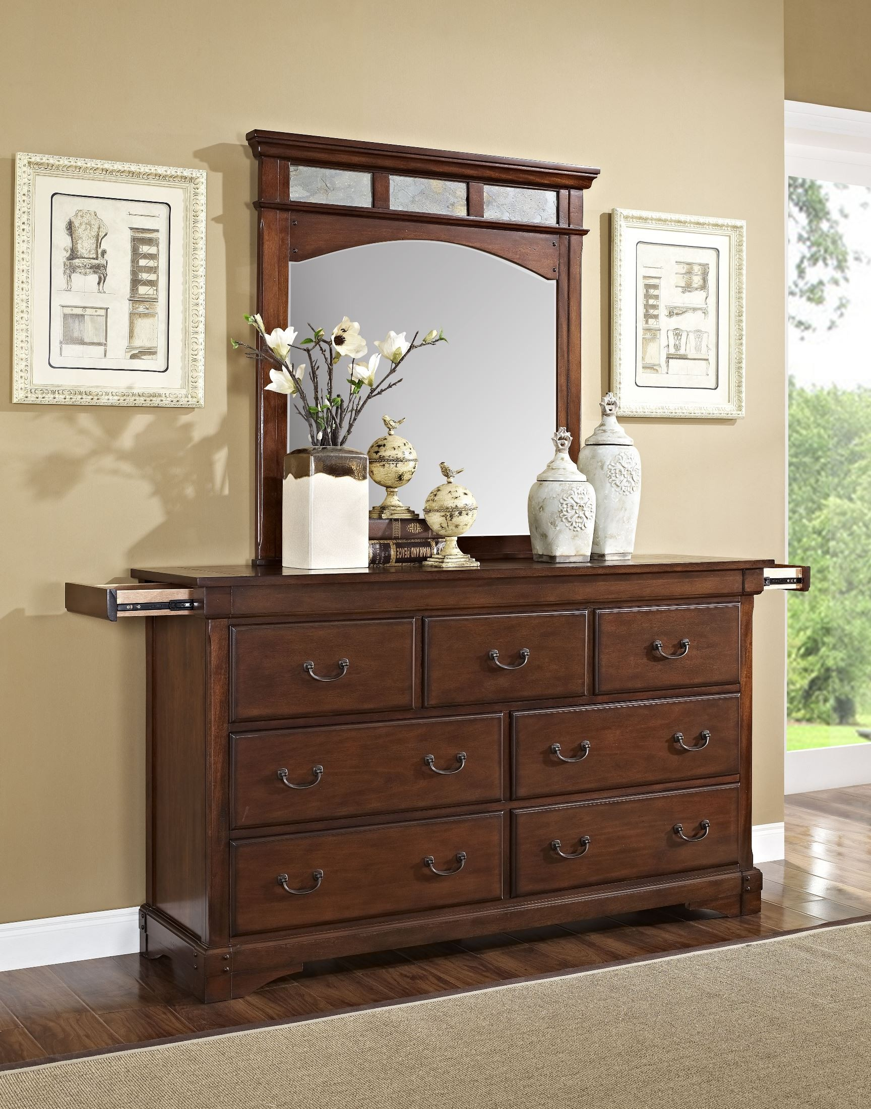 madera african chestnut panel bedroom set from new