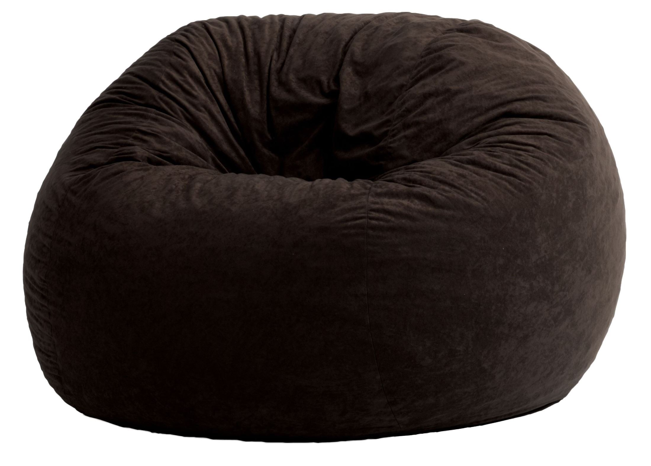 big joe large fuf black onyx comfort suede bean bag from