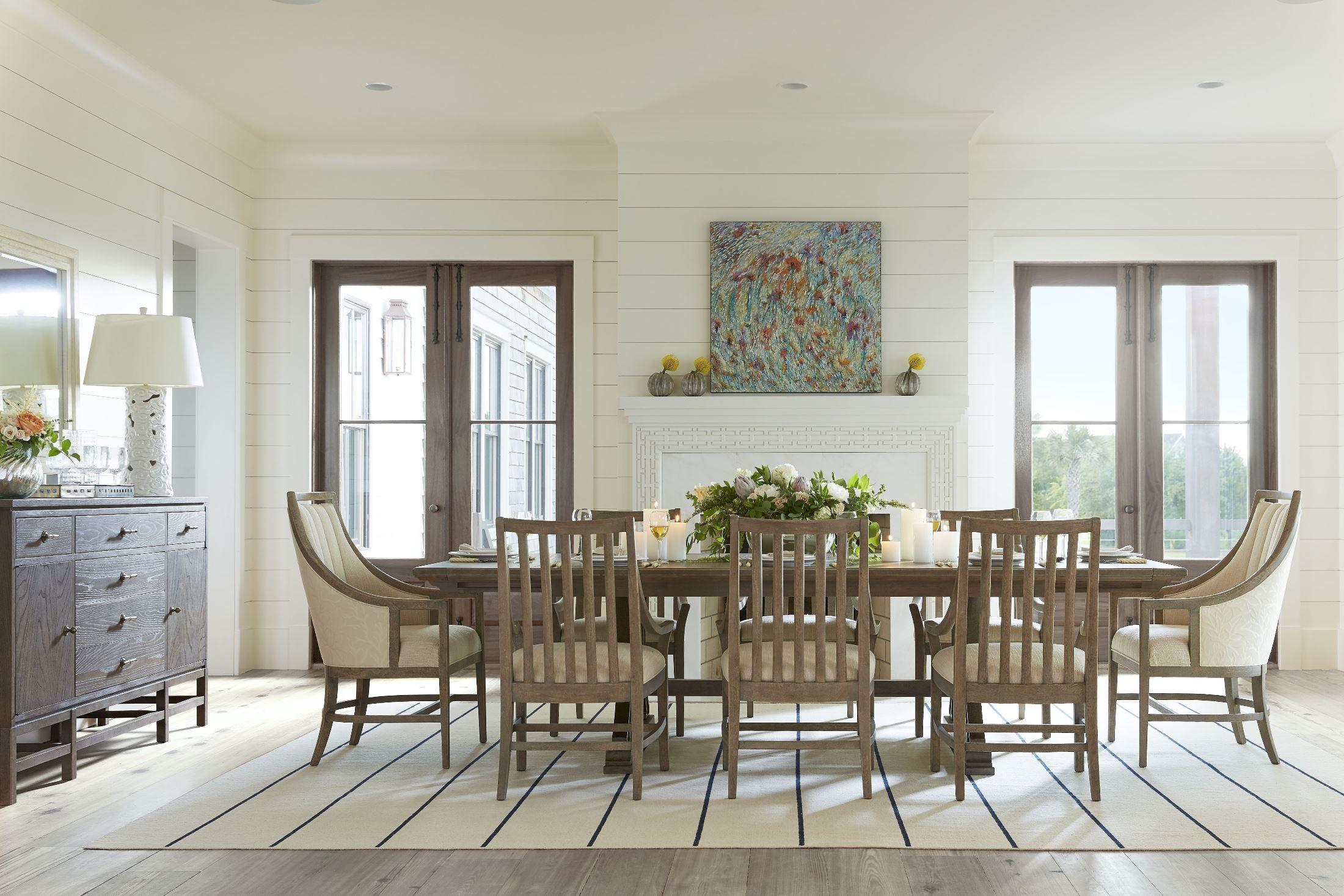 resort deck shelter bay extendable rectangular dining room american drew camden rectangular casual dining set in