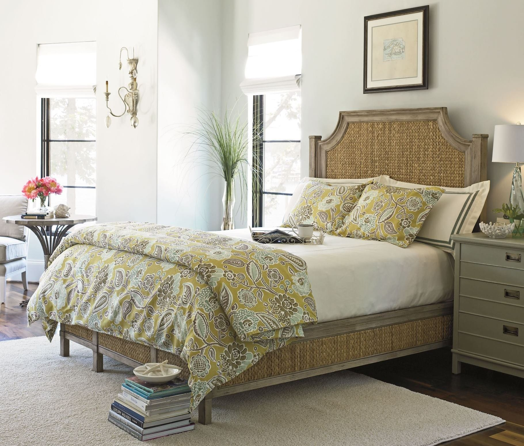 Coastal Living Resort Weathered Pier Water Meadow Woven Bedroom Set from Coas