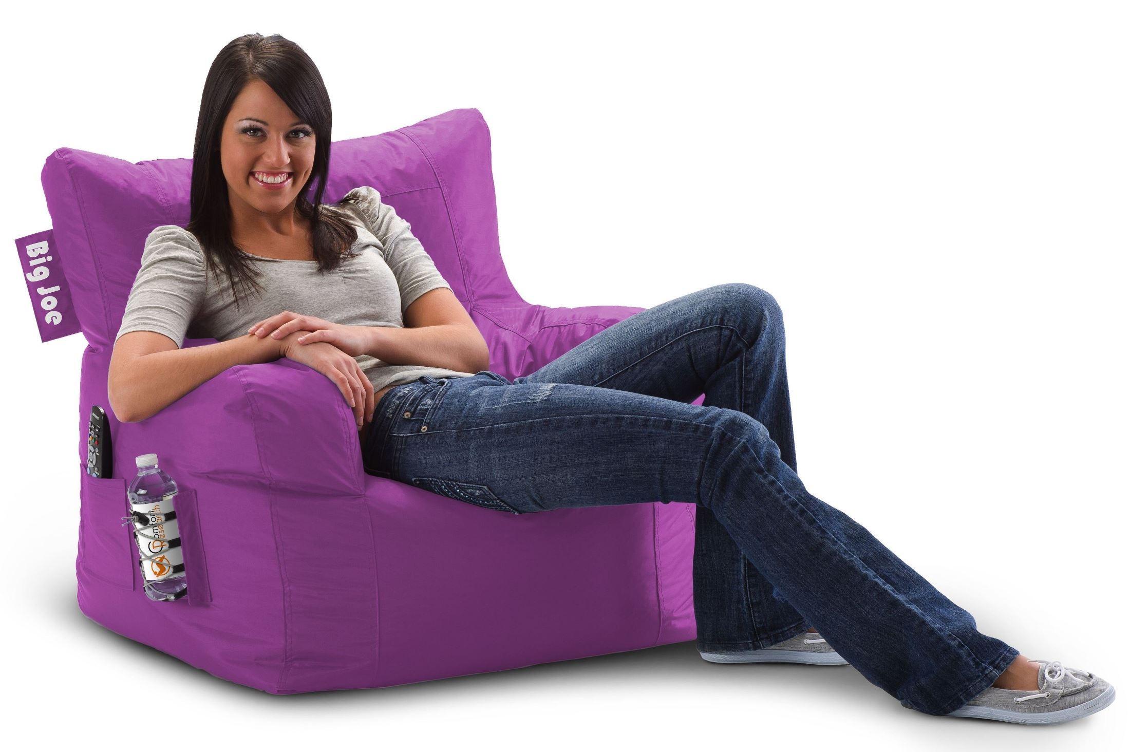 Big Joe Dorm Radiant Orchid SmartMax Chair From Comfort