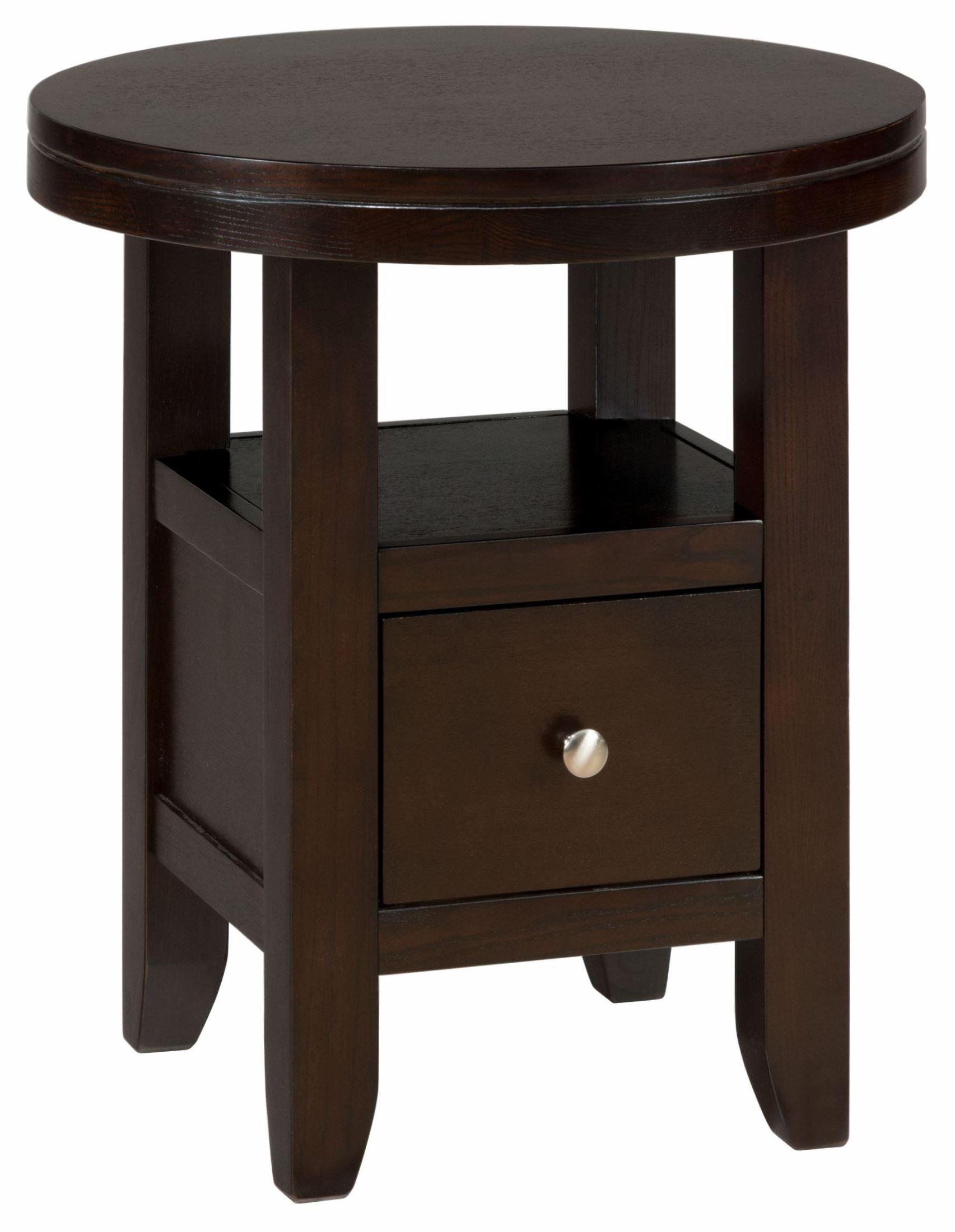 marlon wenge round end table 091 6 jofran. Black Bedroom Furniture Sets. Home Design Ideas