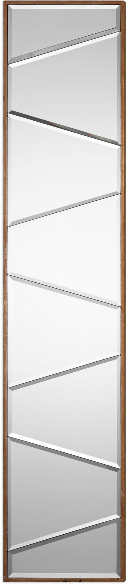 Zodia silver narrow beveled mirror 09146 uttermost for Narrow mirror
