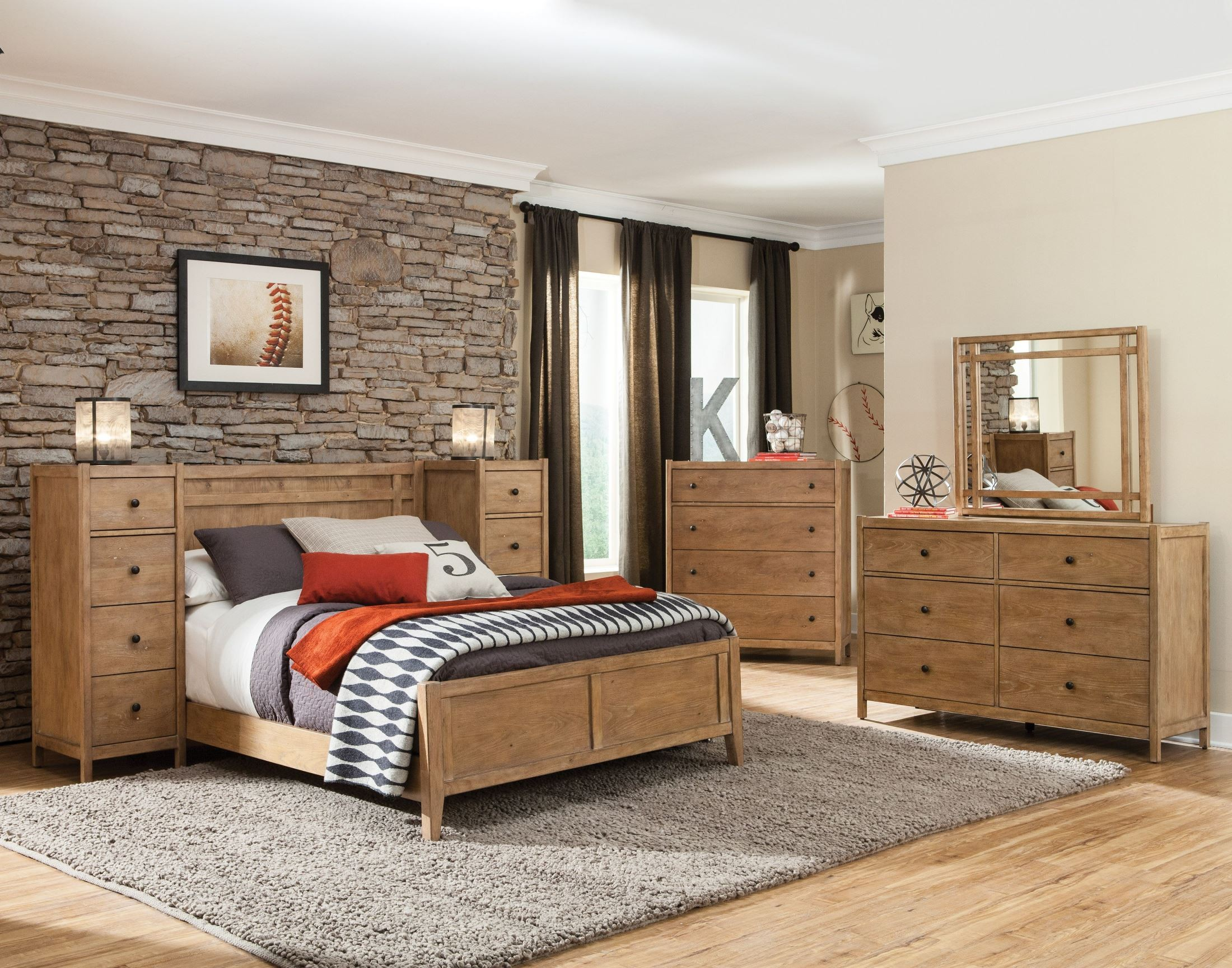 Essentials driftwood panel bedroom set 1000 33 pan for Bedroom furniture essentials