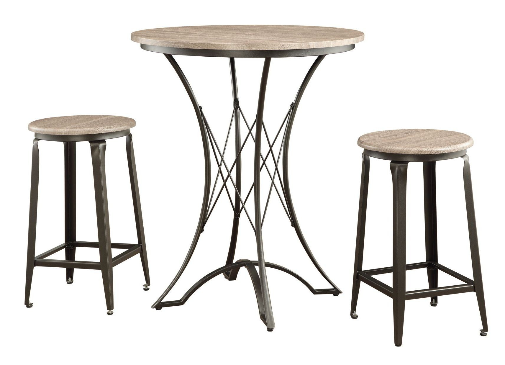 100006 3 Pieces Round Counter Height Bar Set From Coaster 100006 Coleman Furniture