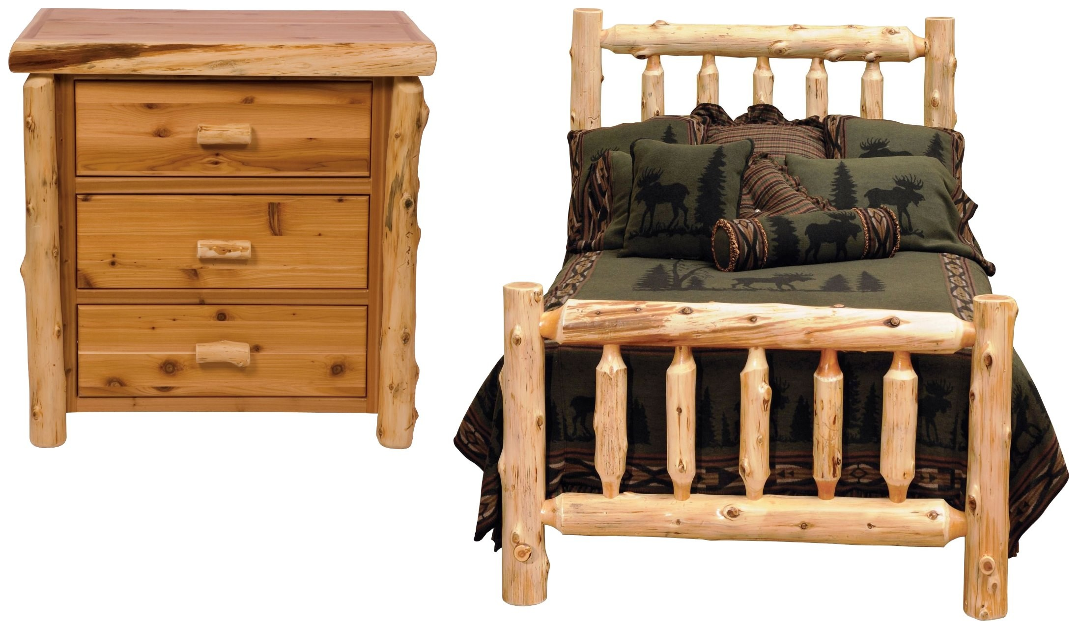 Traditional Cedar Youth Log Bedroom Set From Fireside