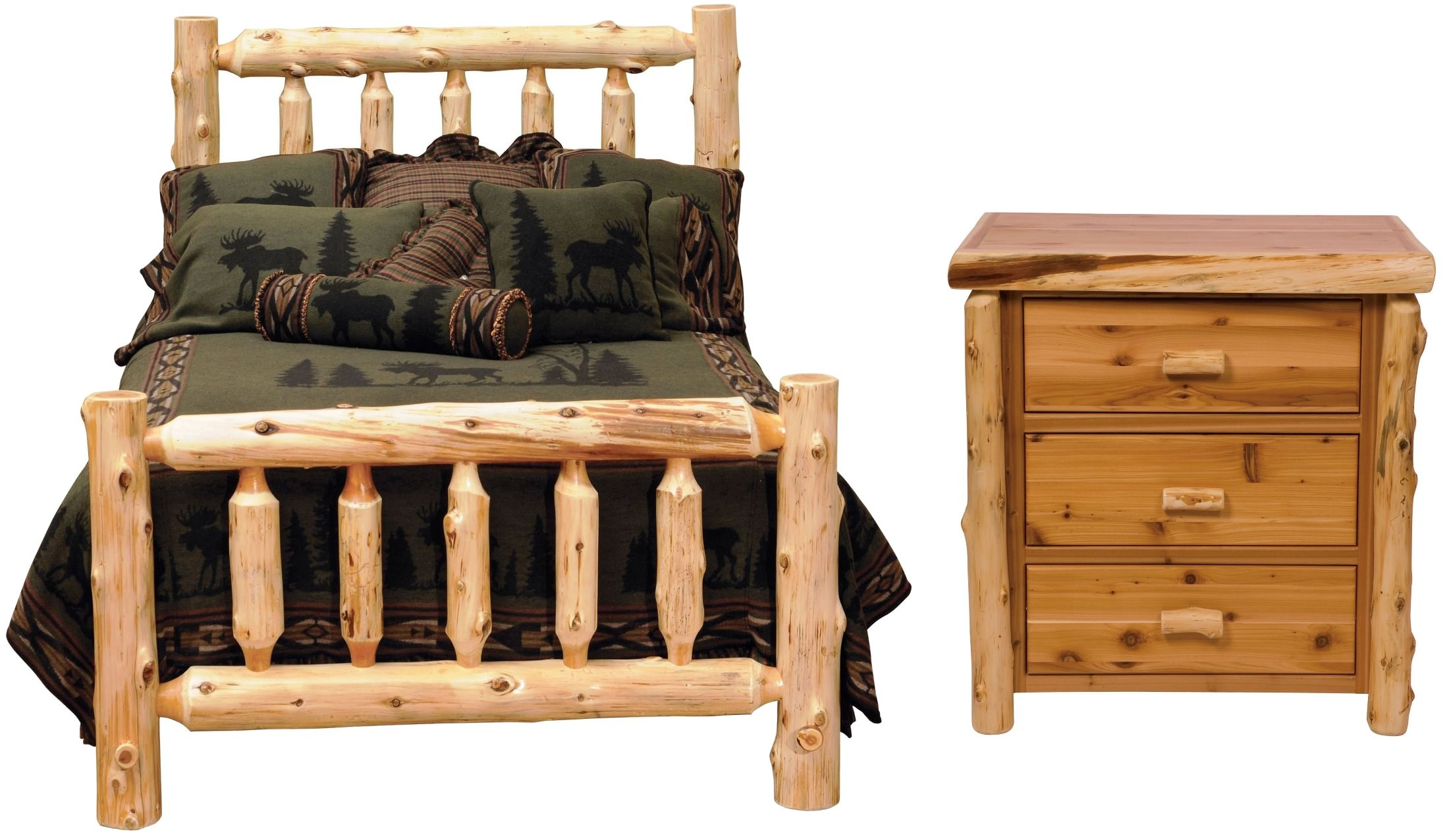 Traditional Cedar Log Bedroom Set From Fireside Lodge 10040 Coleman Furniture