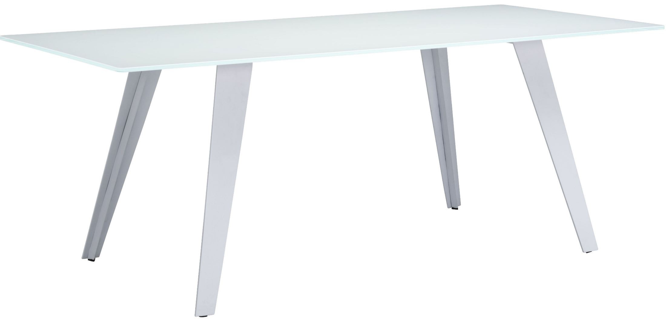 House White Rectangular Dining Table From Zuo Mod 100252 Coleman