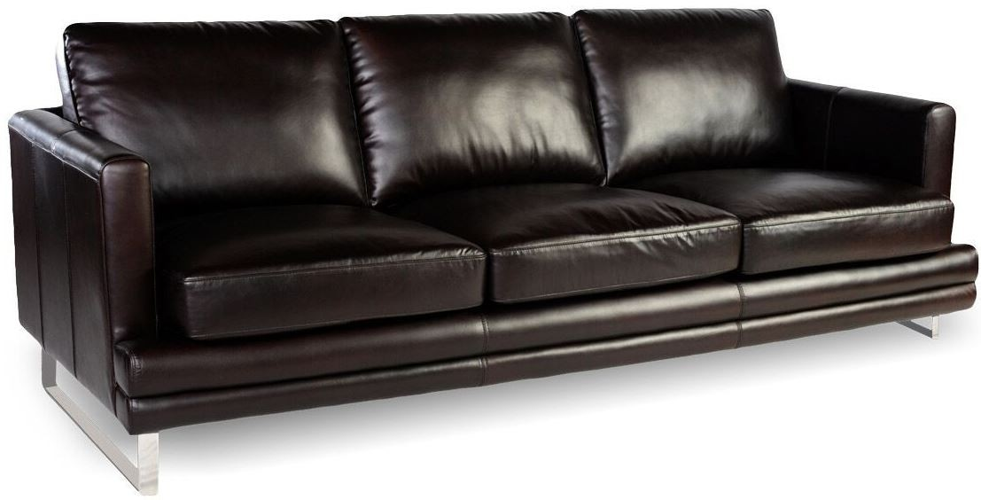 Melbourne Dark Chocolate Leather Living Room Set From
