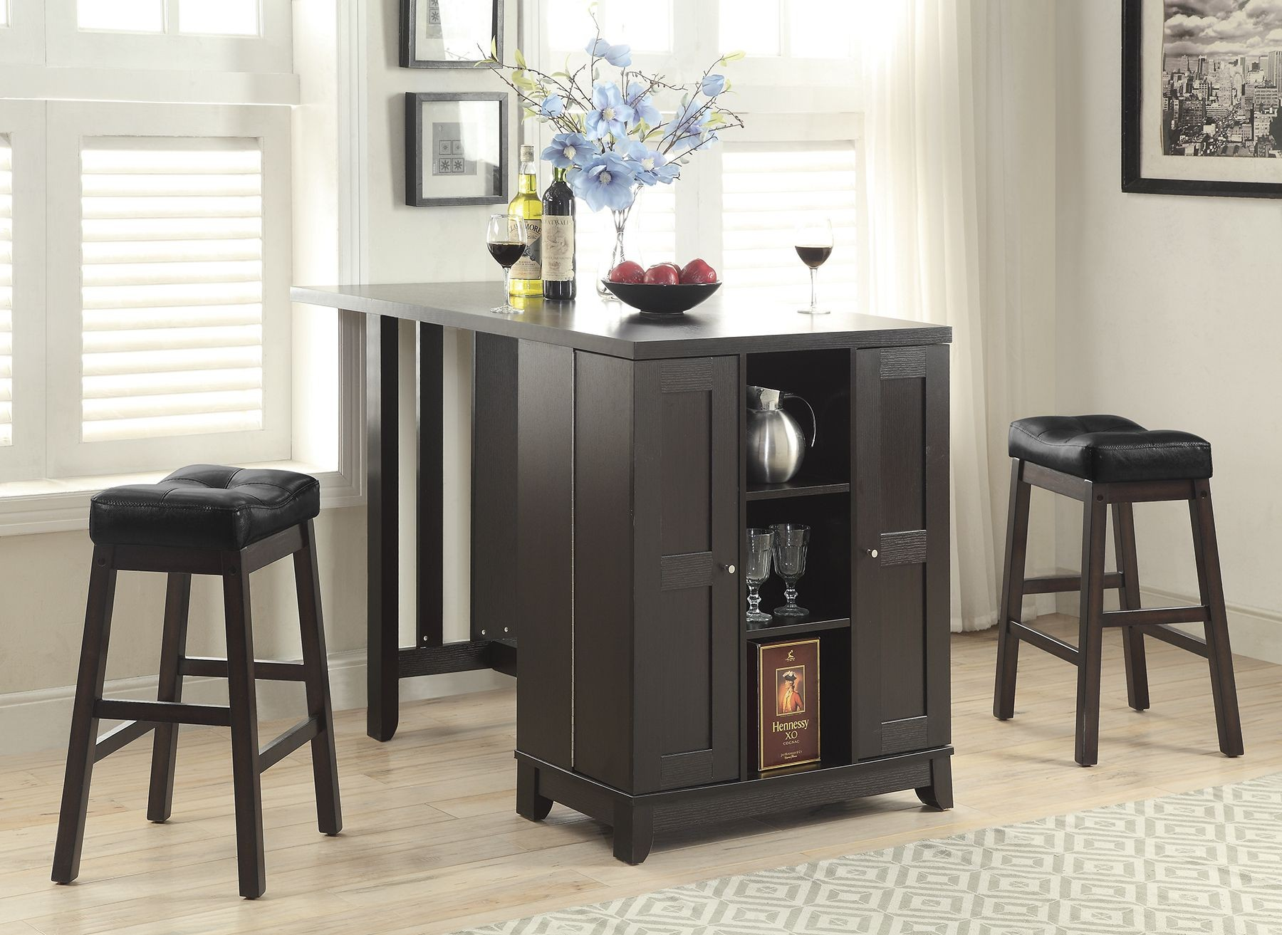 cappuccino counter height dining room set