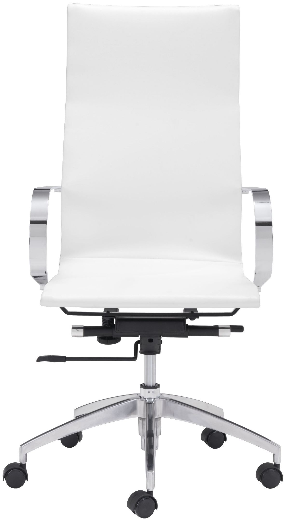 White High Back Office Chair From Zuo Mod 100372 Coleman Furniture