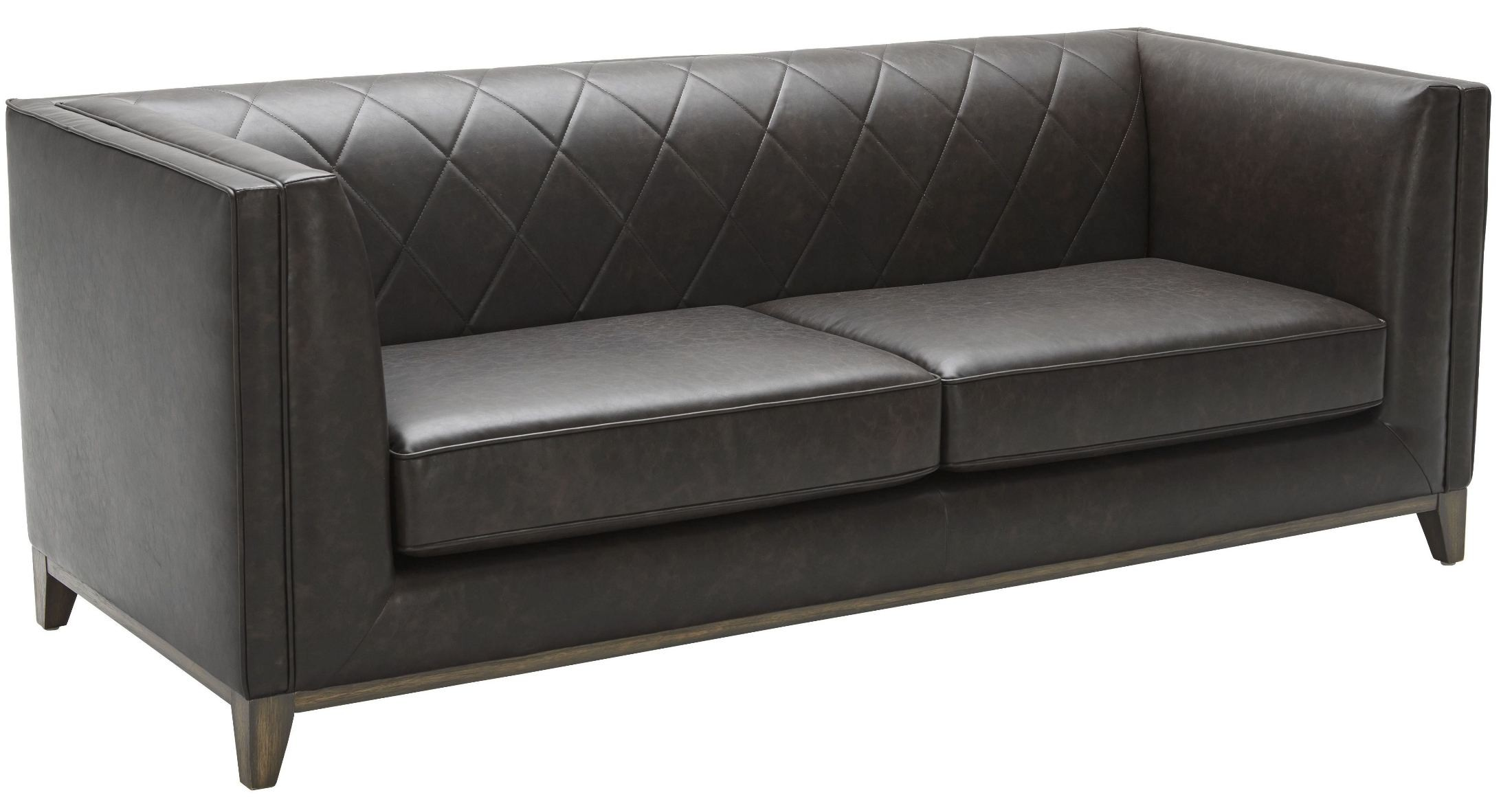 Salvatore Ash Grey Leather Sofa 100391 Sunpan Modern Home