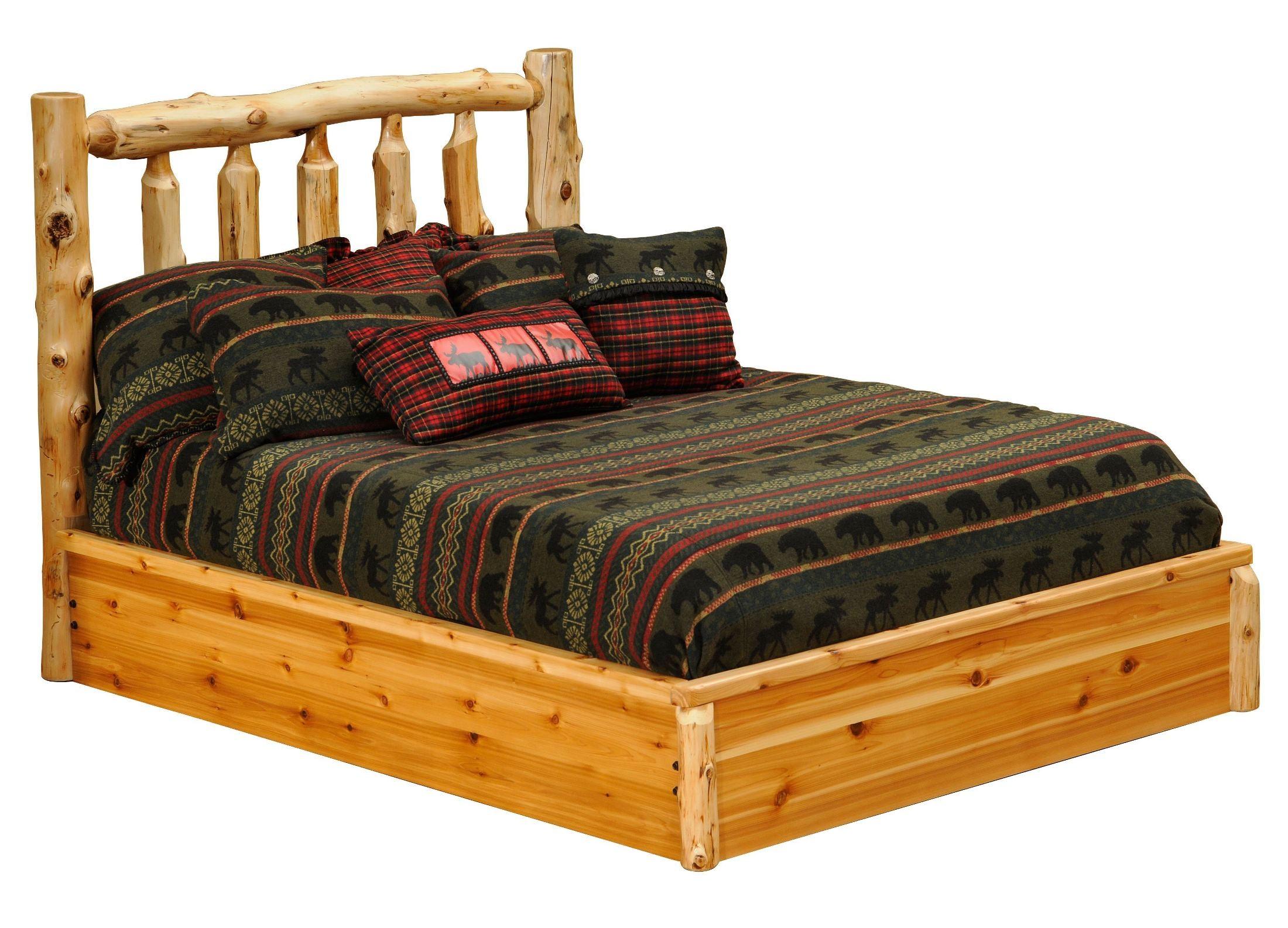 Cedar Twin Platform Bed From Fireside Lodge 10100 Pf