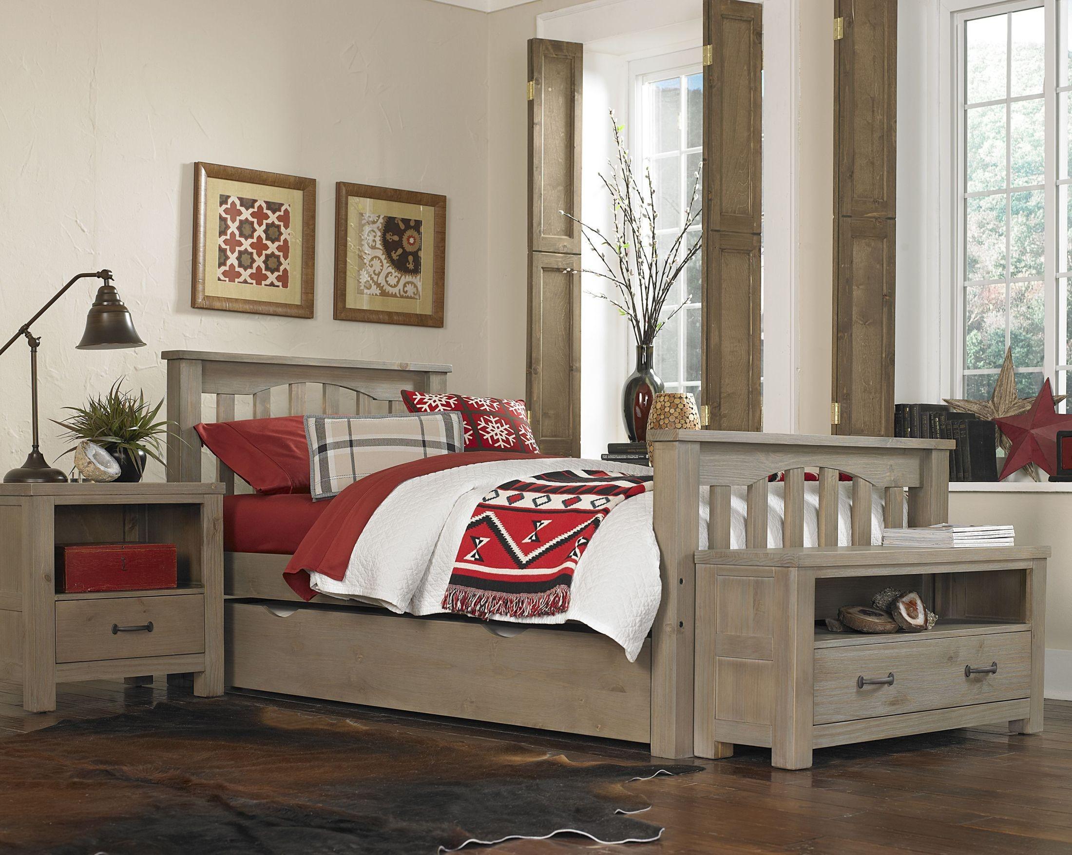 highlands harper driftwood youth panel bedroom set with