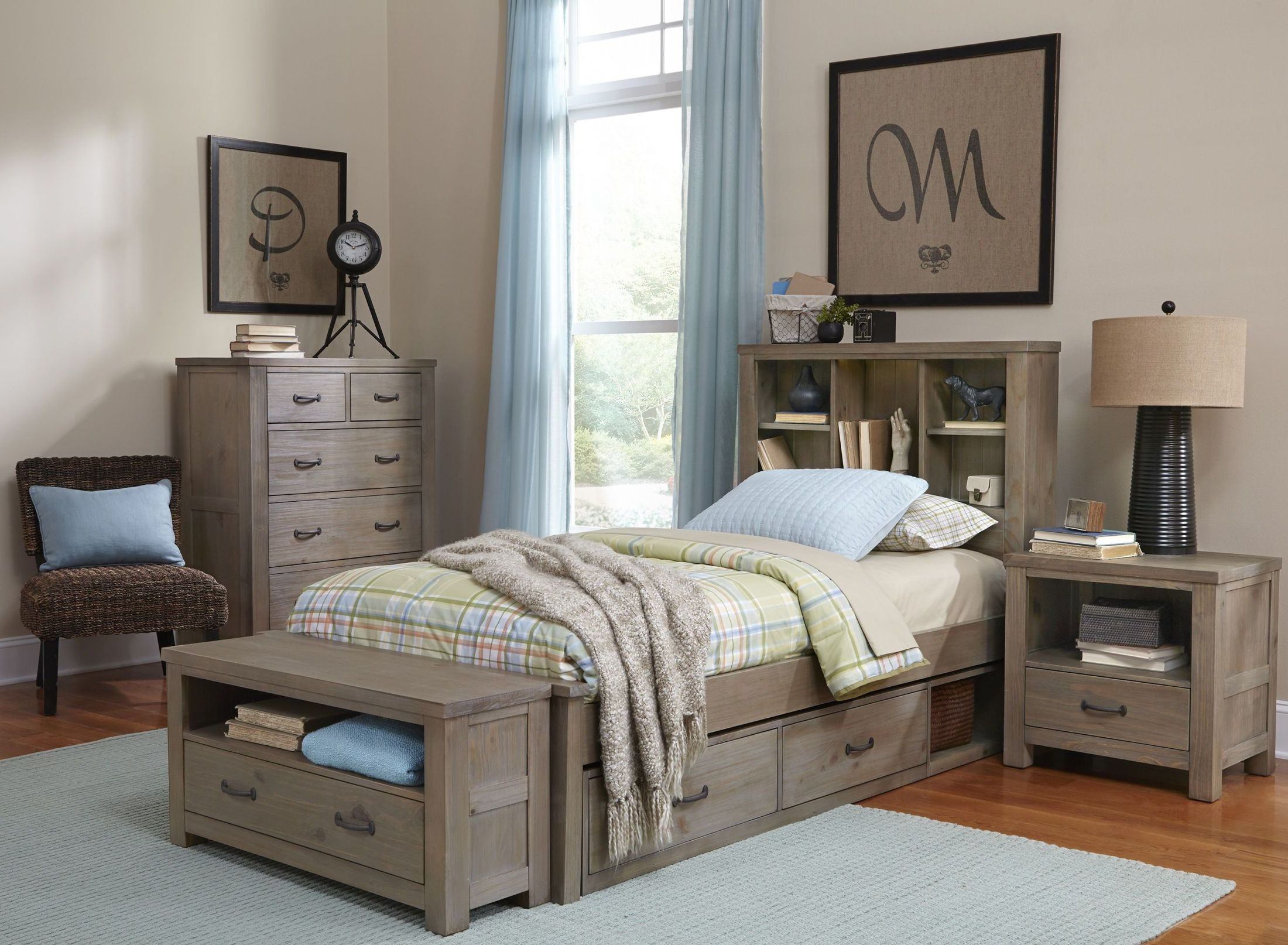 home bedroom furniture bedroom sets highlands driftwood bookca