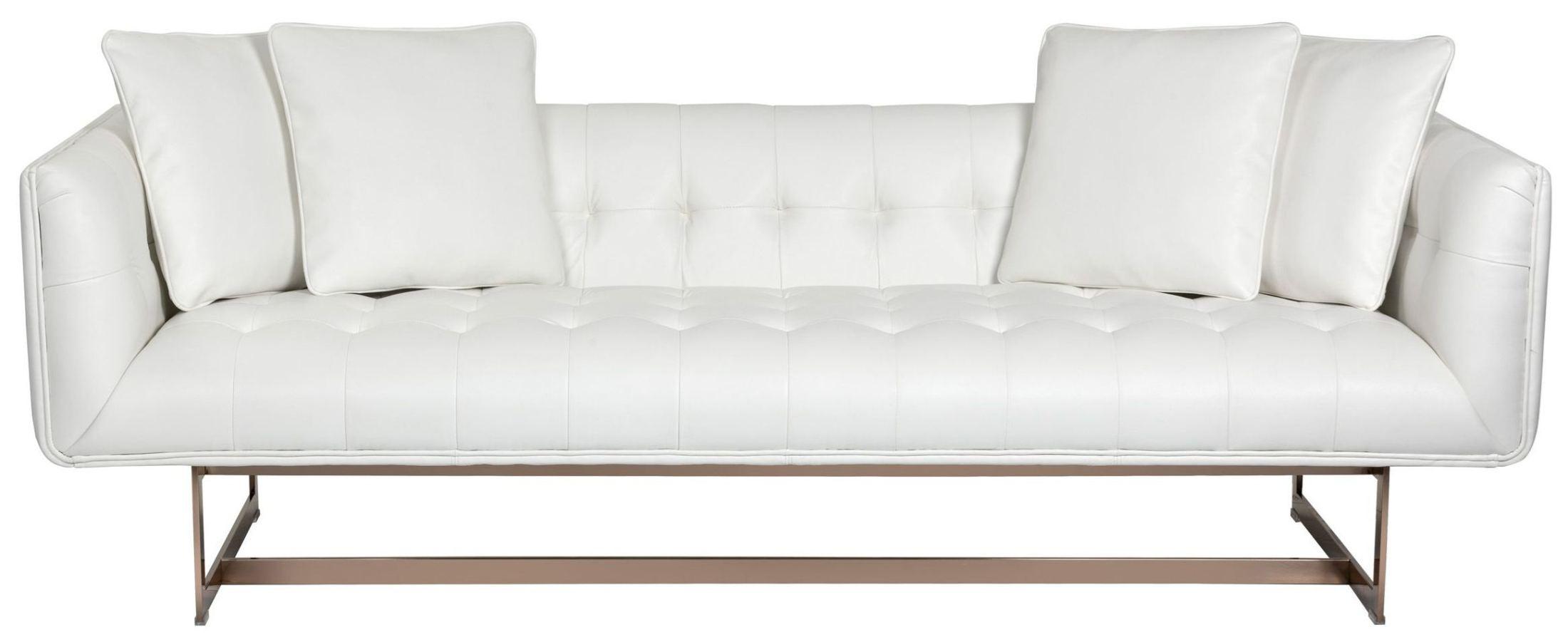 Matisse White Leather Sofa 100620 Sunpan Modern Home