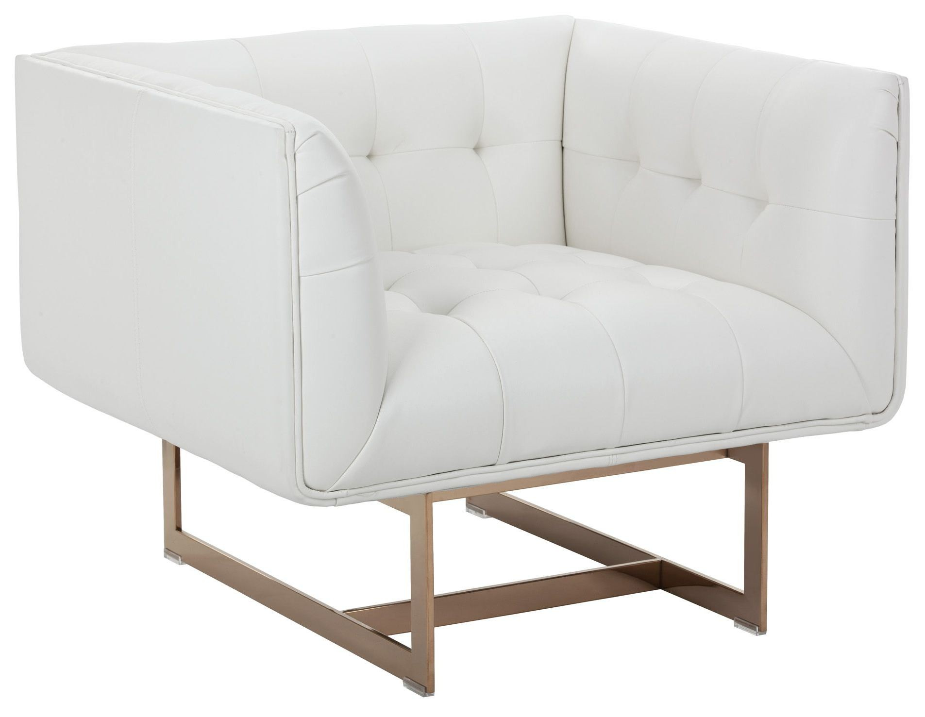 Matisse White Leather Armchair 100623 Sunpan Modern Home