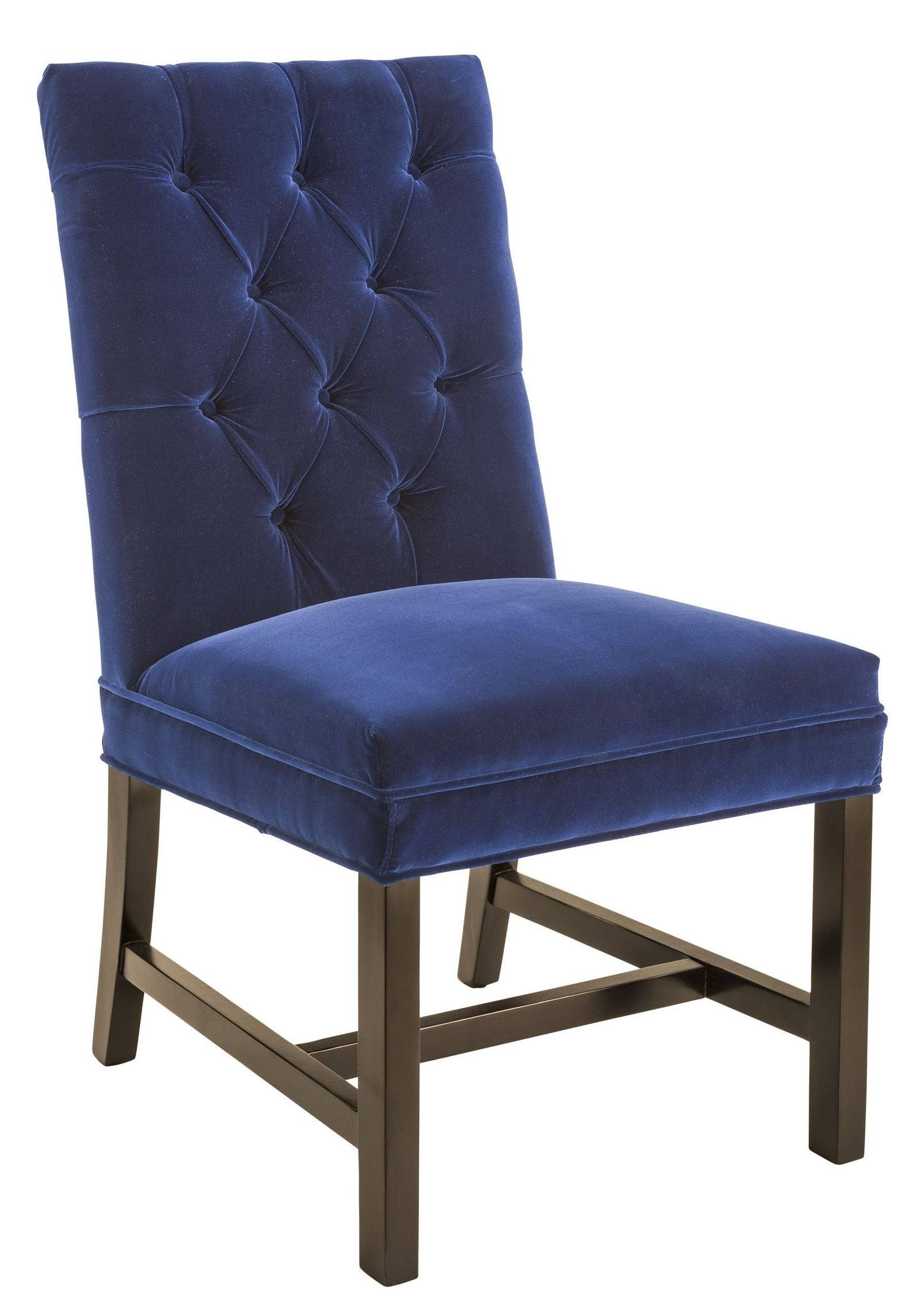 Orwalk giotto navy fabric dining chair 100741 sunpan for Fabric chairs dining room