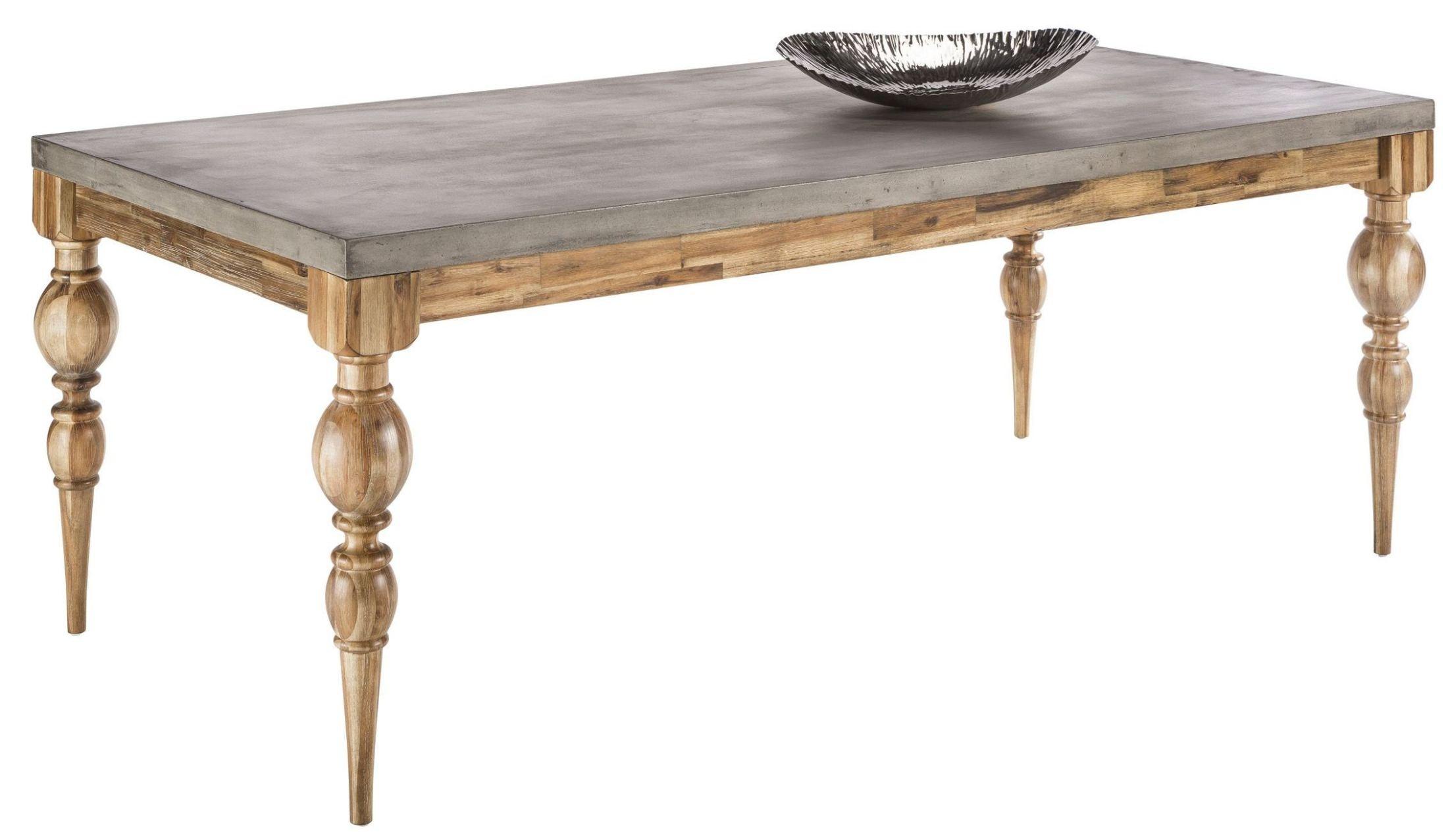 Louis Golden Distressed Rectangular Dining Table 100779 Sunpan Modern Home