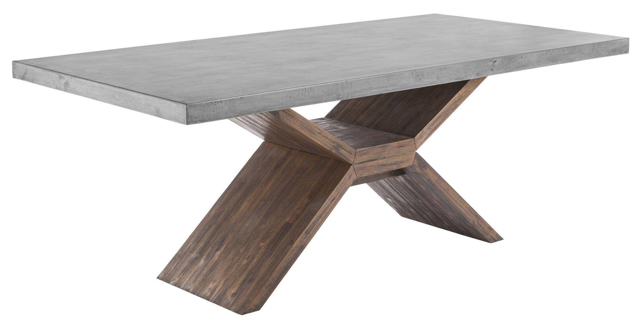 Vixen Medium Brown Rectangular Dining Table 100783 Sunpan Modern